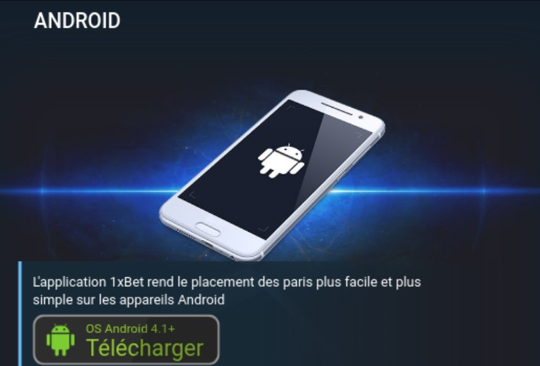 Telecharger 1xBet Senegal apk pour Android